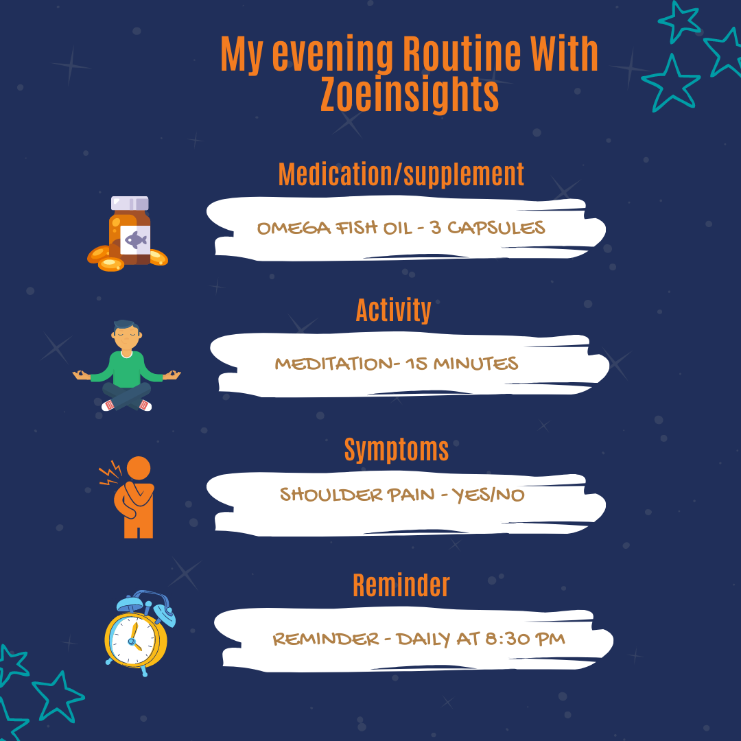 Creating an evening routine template